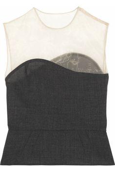 Sewing inspiration: Wool-organza peplum top