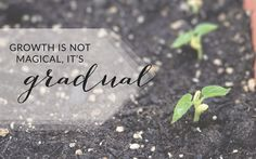 Growth is not magical, it's gradual