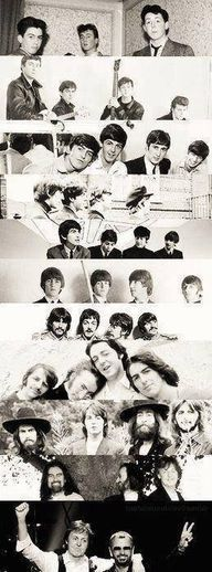The Beatles trough the years its happy and sad at the same time... BEATLES FOREVER<3