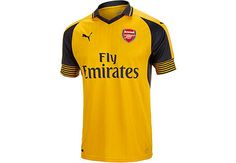 5be3cce41 Kids 2016 17 Puma Arsenal Away Jersey. Buy yours now from www.soccerpro