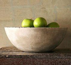 concrete fruit bowl......Love this!!