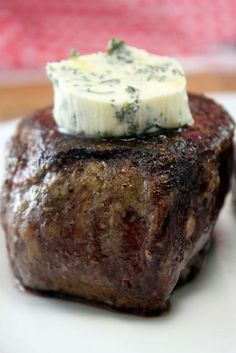 "Restaurant Style Filet Mignon | ""Unbelievable. Will never grill again"" The secret to how steakhouses make their steaks so delicious – Restaurant Style Filet Mignon… it is true. No more grilled steak… It's pan seared in butter and finished in the oven. It's the perfect medium rare and it's the most flavorful, delish, heavenly dish of all time when done correctly."