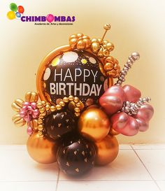 Balloon Design For Birthday, Birthday Background Design, Happy Birthday Balloons, Balloon Arrangements, Balloon Centerpieces, Balloon Decorations Party, Balloon Flowers, Balloon Bouquet, Balloon Display