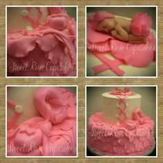 Ballerina themed baby shower cake