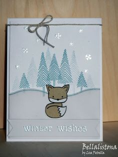Winter Wishes @Jen Block  I want to make this into a cookie!  I loveeeee the fox!