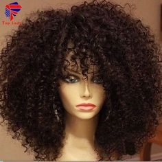 7A Kinky Curly Wig Peruvian Virgin Human Hair Lace Front Wigs For Black Women Kinky Curly Glueless Full Lace Wigs Free shipping - Wigs For Black Women Wigs For Black Women