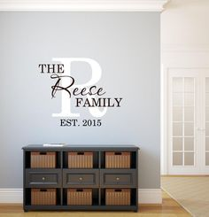 Family Name Established Date Wall Decal Vinyl by OZAVinylGraphics