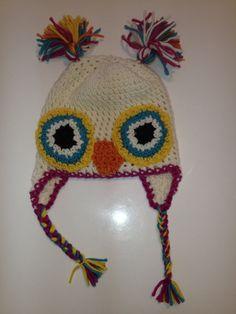 owl hat. Owl Hat, Crochet Hats, Beanie, Knitting Hats, Beanies, Beret