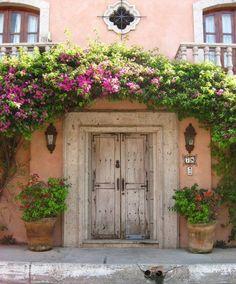A beautiful old door taken in Bucerias, Nayarit Mexico. My sister rented this villa for her wedding and I want to do the same! The Doors, Cool Doors, Unique Doors, Entrance Doors, Doorway, Windows And Doors, Door Entry, Entrance Ideas, Front Doors