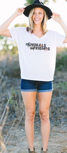Animals are friends! :) Support rescued and abused animals with each purchase and show others how much you love them! #Sevenly #GentleBarn