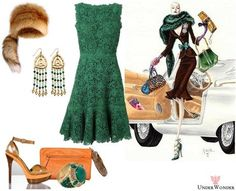 UnderWonder's stylebook at ShopStyle: LL_Lace Lovers #69: Valentino Macrame Lace & Silk Dress