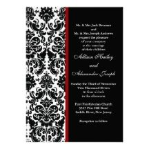 red and black wedding invitations -