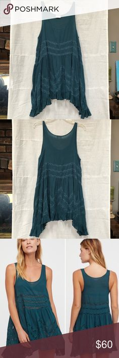 9cf6c6950fa810 Free People Voile   Lace Trapeze Slip Dress Green