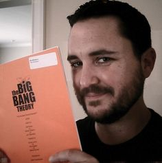 Wil Wheaton holding a script for a new episode of The Big Bang Theory. The Big Band Theory, Big Bang Theory, My True Love, My Love, Howard Wolowitz, Melissa Rauch, Wil Wheaton, Star Wars, Nerd Love