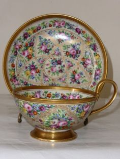 Sevres style cup and saucer Sold £51