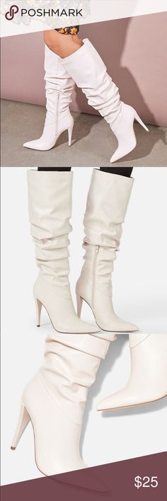 Liliana OPUS-4 Mauve Blush Faux Suede Thigh High Peep Toe Slouch Stiletto Boot