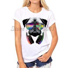 Pug Life Printed T-Shirt