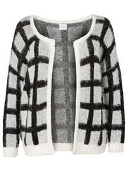 Grid pattern plus size cardigan from JUNAROSE #junarose #plussize #cardigan #grid #wrapup