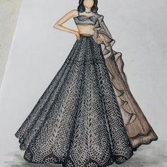 Fashion Figure Drawing, Fashion Drawing Dresses, Fashion Illustration Dresses, Fashion Illustrations, Dress Design Sketches, Fashion Design Drawings, Fashion Sketches, Indian Wedding Wear, Fashion Figures