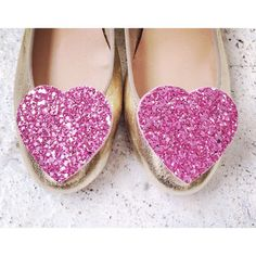 Hey, I found this really awesome Etsy listing at https://www.etsy.com/uk/listing/178746270/light-pink-shoeclips-glitter-hearts-big