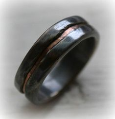 rustic matte mens rose gold wedding bands - Google Search