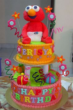 Baby Elmo Birthday Cake