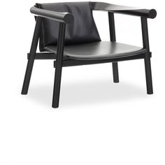 Coedition Altay armchair - Full grain leather (136,775 PHP) ❤ liked on Polyvore featuring home, furniture, chairs, accent chairs, furniturechairs, black arm chair, black armchair, lacquer furniture, black furniture and black chair