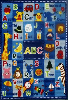 Shop Awesome #educationalrugs for kids room with different Colore, Sizes and Style. HF #Rugs offers a large selection of Kids Area Rugs from top brands at lowest prices.