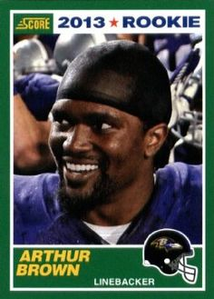 Amazon.com: 2013 Score NFL Football Trading Card # 338 Arthur Brown Rookie Baltimore Ravens ( IN PROTECTIVE SCREWDOWN DISPLAY CASE): Collectibles & Fine Art
