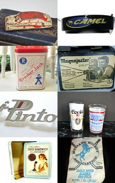 Vintage Industrial Brand Name Collection items were probably Mid Century premiums & giveaways. click to see prices on etsy