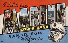 A Salute from Marine Corps Base San Diego California