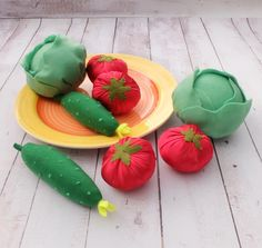 #Felt Vegetable Set, #Textile Veggies Set, #Edu Toy, #For Kids