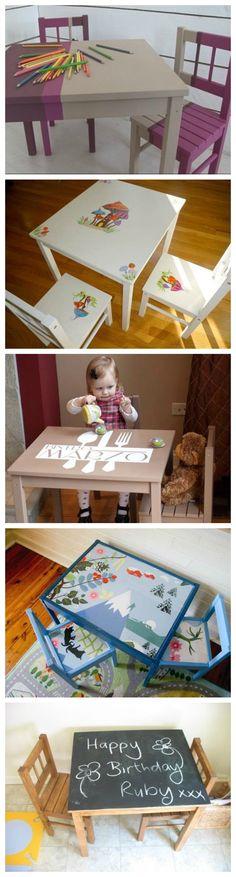 Petites tables de jeu pour enfants - Déco enfants.