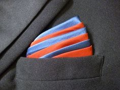 How to Fold a Pocket Square - Ice Cream Mountain Animated How to fold a Pocket Square.