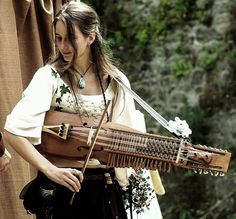 My nyckelharpa and me... already a bit old photo, but I like it ! Fête des Remparts, Dinan, France