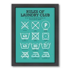 The rules of the laundry club.