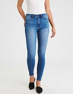 American Eagle Outfitters AE Super Soft Super Hi-Rise Jegging High Waist Jeggings, High Jeans, Ripped Jeans, Skinny Jeans, Women's Jeans, Capsule Wardrobe 2018, Mens Outfitters, Eagle Outfitters, Cute Jeans