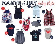 Fourth of July Fashion for the Itty Bittys