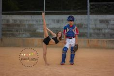 dance and baseball photo session