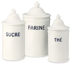 Bistro Francais Canisters - traditional - food containers and storage - Williams-Sonoma