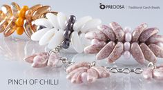 Pinch of chilli – Delicate things made using PRECIOSA Chilli™ beads