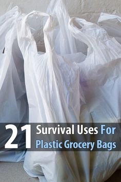 Every time you go to the store, you're offered free survival supplies. I'm talking about plastic bags. They could save your life, or at least help you out.