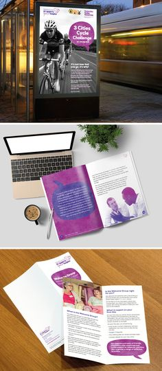 A range of designs for St Marys Hospice who are a charity which care for people… Cycle Challenge, Cycling Events, Leaflet Design, Hospice, Case Study, Booklet, Charity, Range, Bereavement