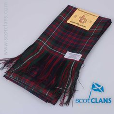 Pure wool full sash in MacDonnell of Glengarry modern tartan - from ScotClans