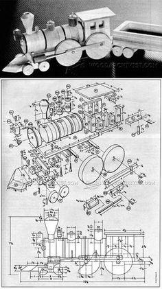 Wooden Train Plans - Children's Wooden Toy Plans and Projects | WoodArchivist.com