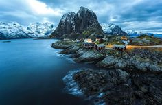 Splendid Village Hamnøy, a small fishing village in the municipality of Moskenes in Nordland county, Norway