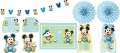 1st Birthday Mickey Mouse Room Decorating Kit 10pc
