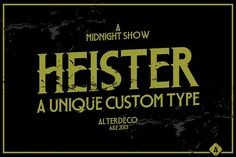 Heister Type by Alterdeco Inc. on @creativemarket
