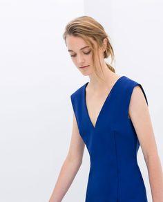 Image 2 of TIGHT FIT V-NECK DRESS from Zara