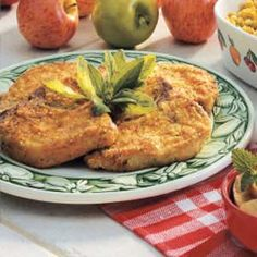 "Breaded Dijon Pork Chops Recipe -Start your supper with <B>Breaded Dijon Pork Chops</B> shared by Shannon Gerardi from Huber Heights, Ohio. ""This treatment for pork chops is so delicious that even my dad and my husband, who aren't fond of pork, love it,"" she writes. The golden breading that coats these tender chops is moist and subtly seasoned with Dijon mustard ""While the recipe calls for pork chops, I sometimes make it with pork tenderloin instead,"" Shannon adds."